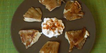 Μανιτάρια πλευρώτους γεμιστά με τυρί κρέμα